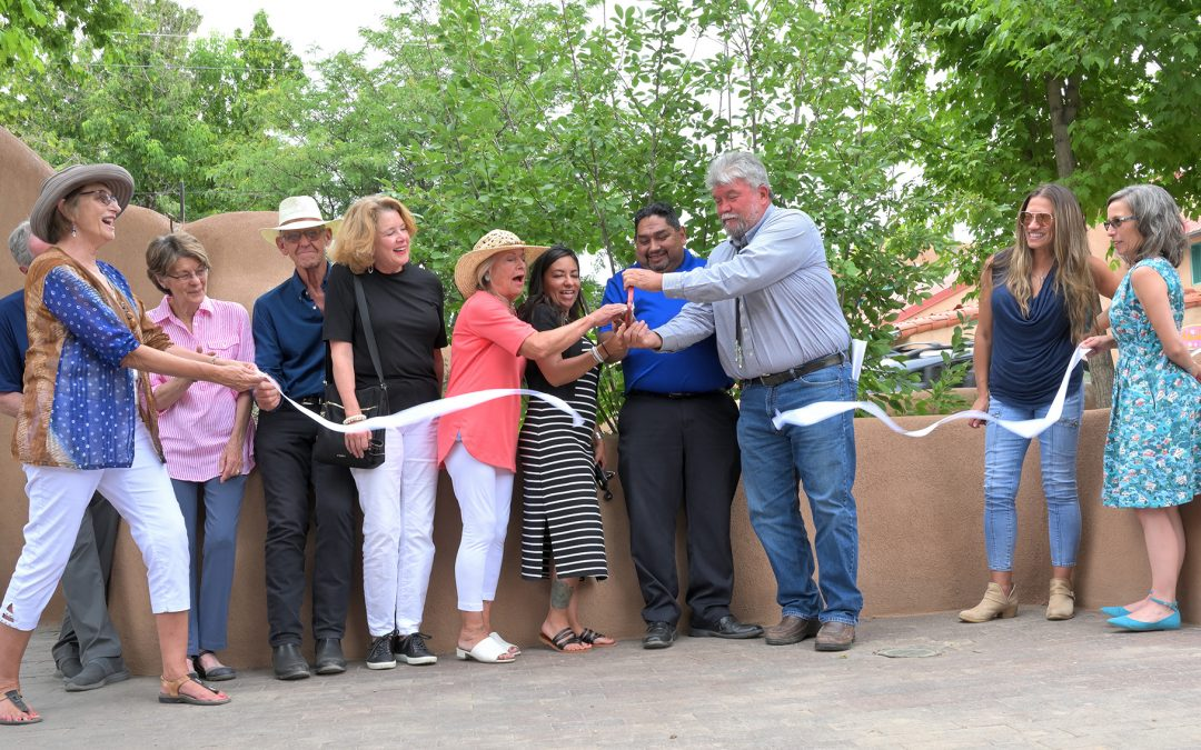 Adobe Wall Ribbon Cutting